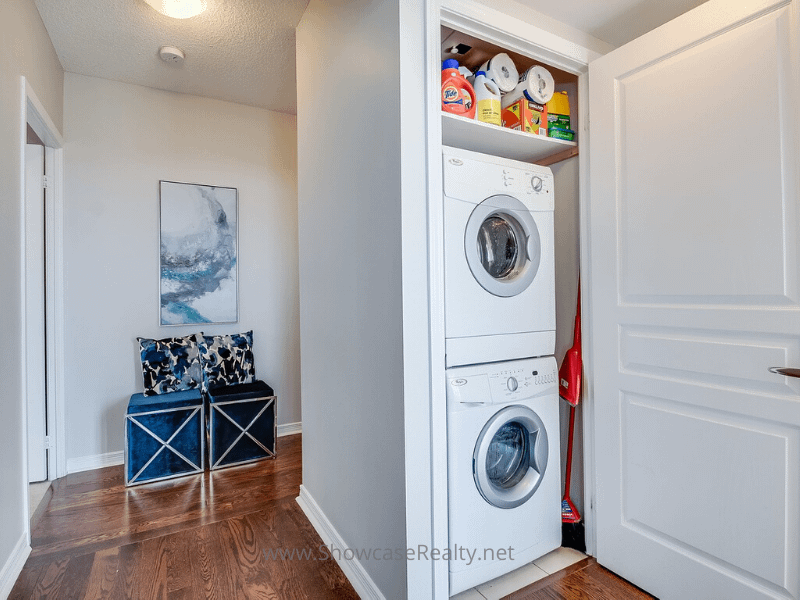additional storage in the laundry area